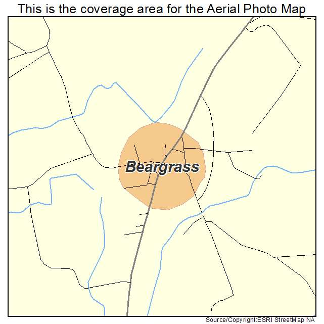 Beargrass, NC location map