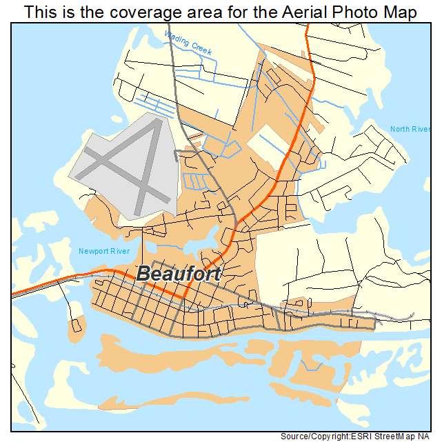 Beaufort, NC location map