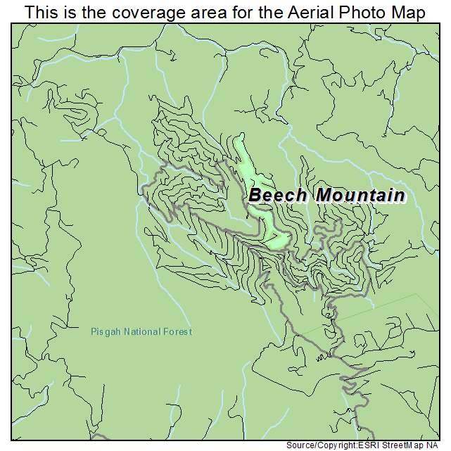 Beech Mountain, NC location map
