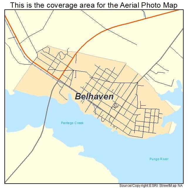 Belhaven, NC location map