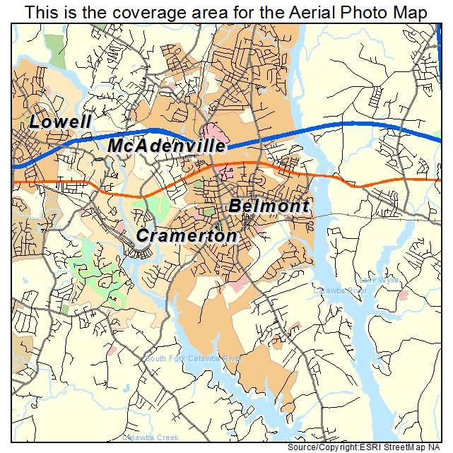 Belmont, NC location map