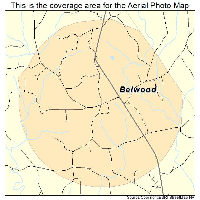 Belwood, NC location map
