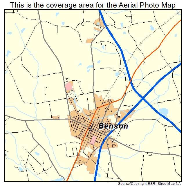 Benson, NC location map