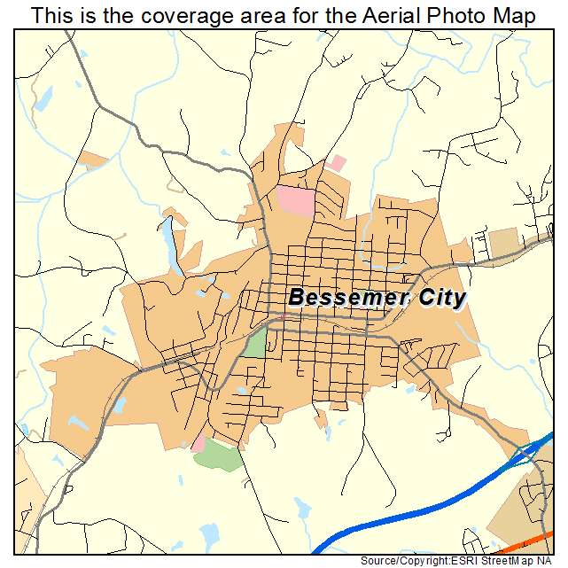 Bessemer City, NC location map