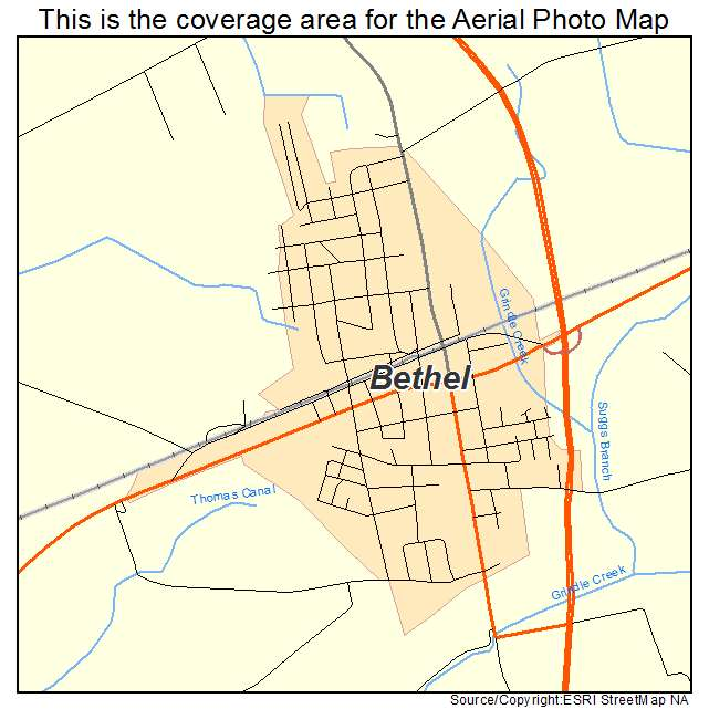 Bethel, NC location map