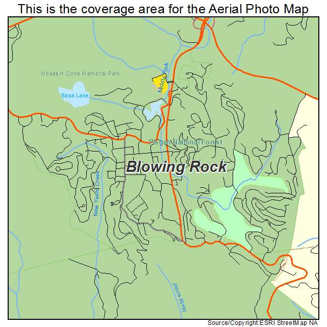 Blowing Rock, NC location map