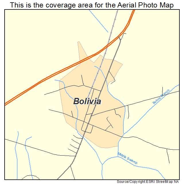 Bolivia, NC location map