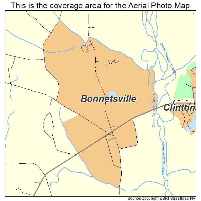 Bonnetsville, NC location map
