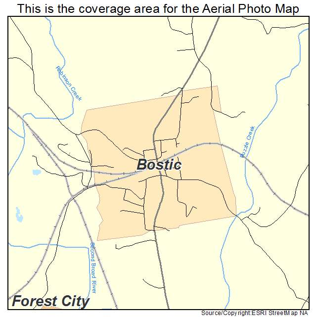 Bostic, NC location map