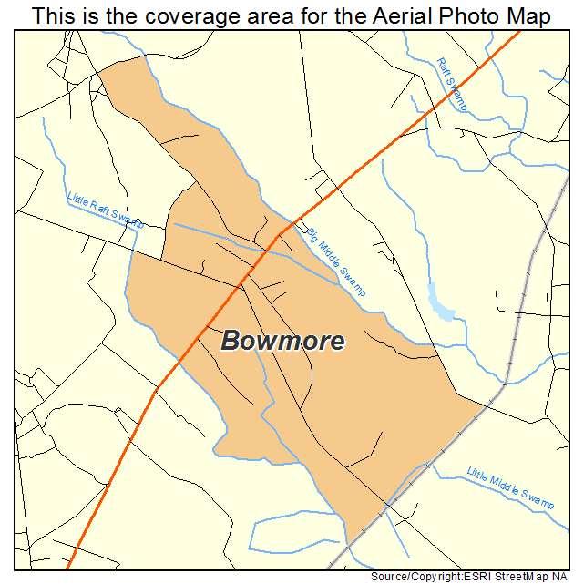 Bowmore, NC location map