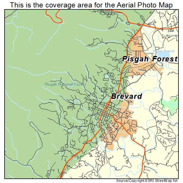 Brevard Nc Map Aerial Photography Map of Brevard, NC North Carolina Brevard Nc Map