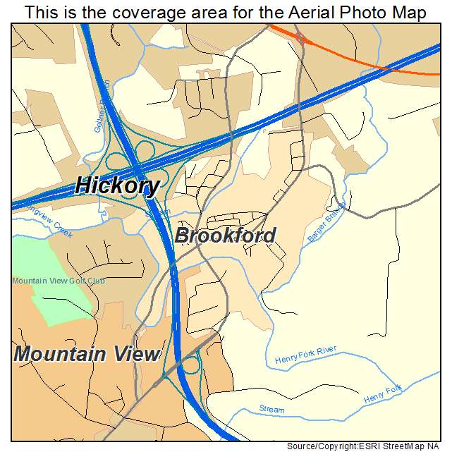 Brookford, NC location map