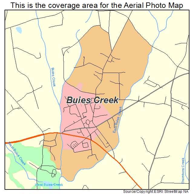 Buies Creek, NC location map