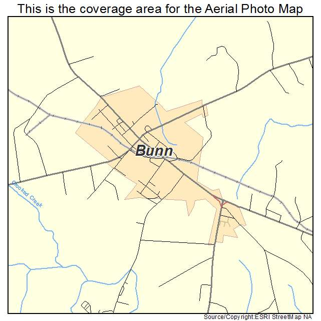 Bunn, NC location map