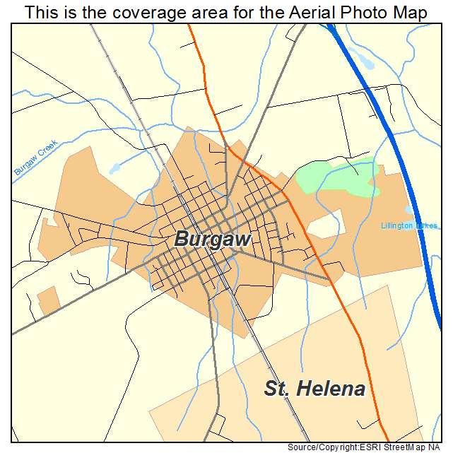 Burgaw, NC location map