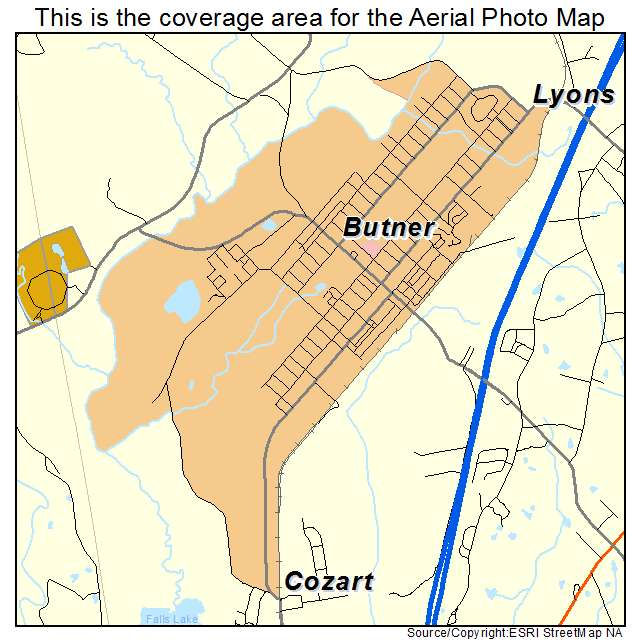 Butner, NC location map