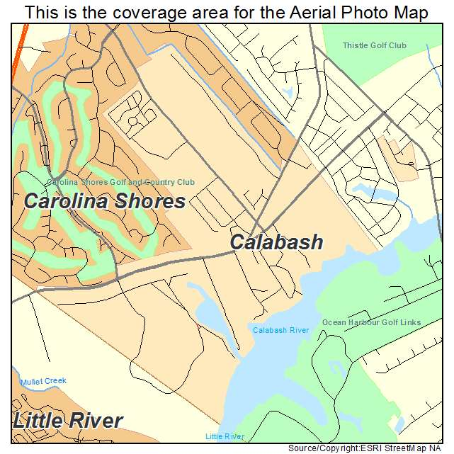Aerial Photography Map Of Calabash Nc North Carolina