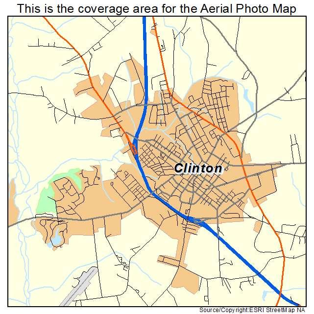 Aerial Photography Map of Clinton, NC North Carolina