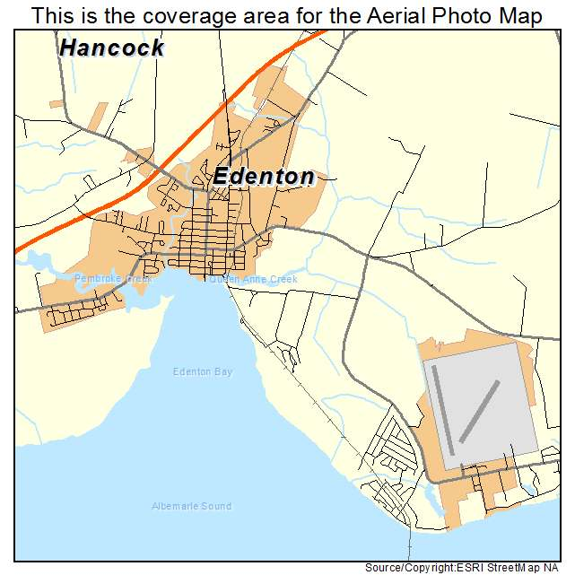 Aerial Photography Map Of Edenton NC North Carolina