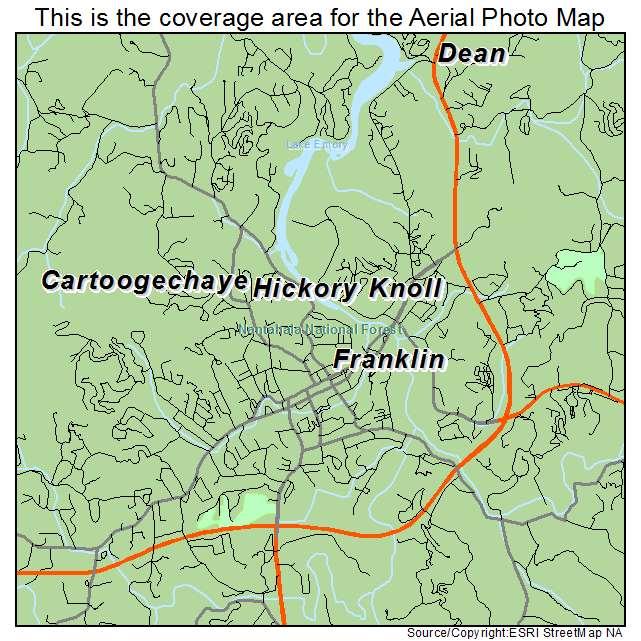 Aerial Photography Map Of Franklin NC North Carolina