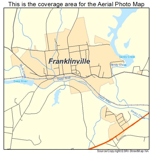 Franklinville, NC location map