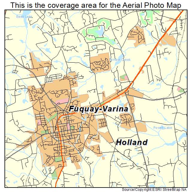 Aerial Photography Map Of Fuquay Varina Nc North Carolina