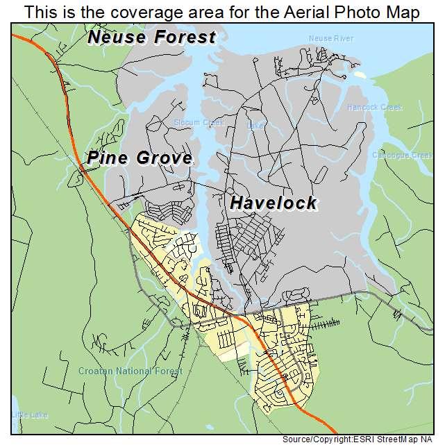 Aerial Photography Map of Havelock, NC North Carolina