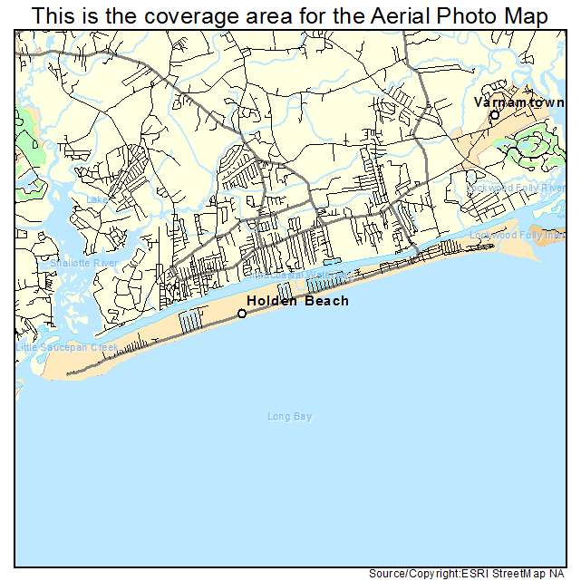 Map Of Holden Beach Nc North Carolina