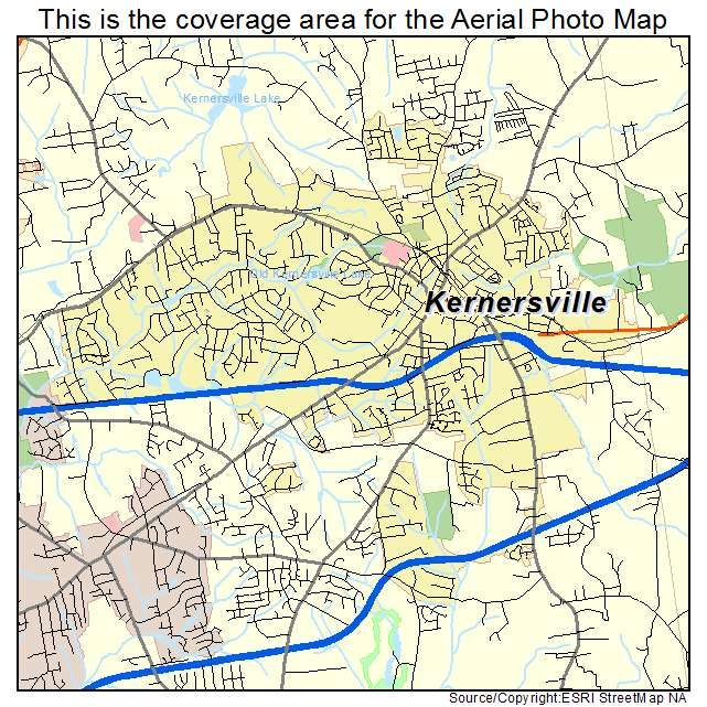 Aerial Photography Map of Kernersville, NC North Carolina