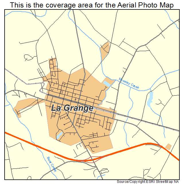La Grange, NC location map