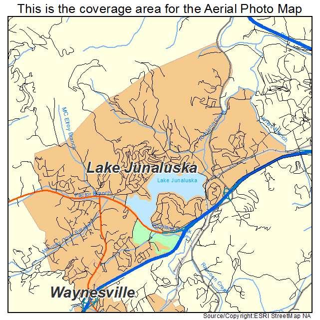 Lake Junaluska, NC location map