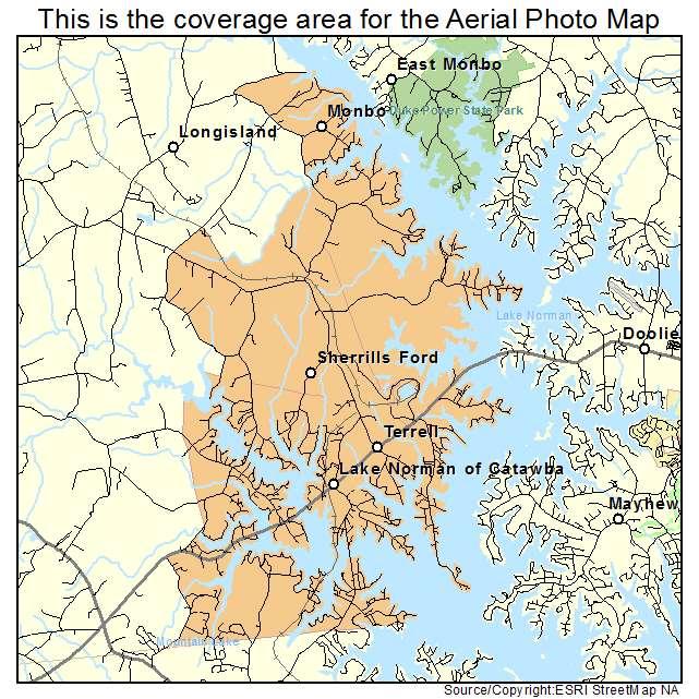 Aerial Photography Map of Lake Norman of Catawba NC North Carolina