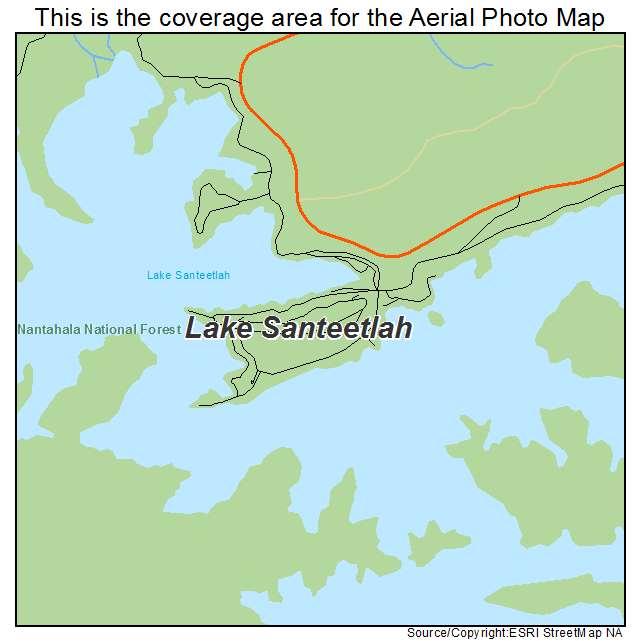 Lake Santeetlah, NC location map