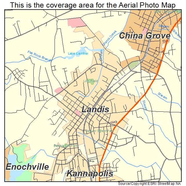 Landis, NC location map