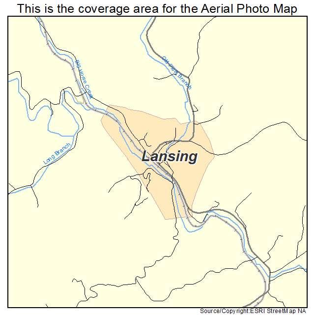 Lansing, NC location map