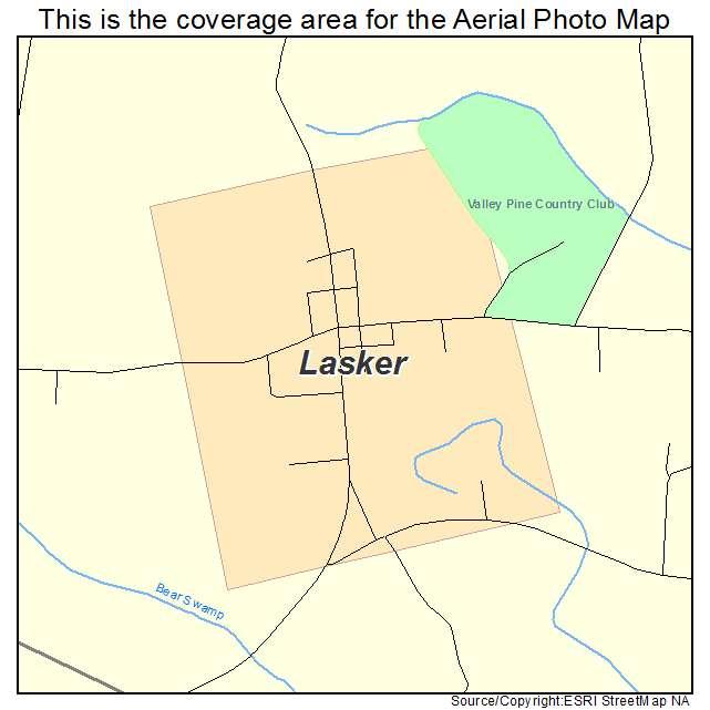 Lasker, NC location map
