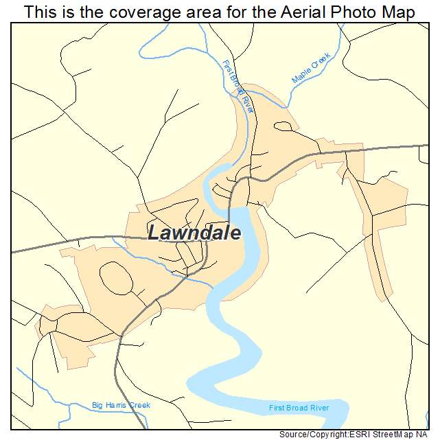 Lawndale, NC location map