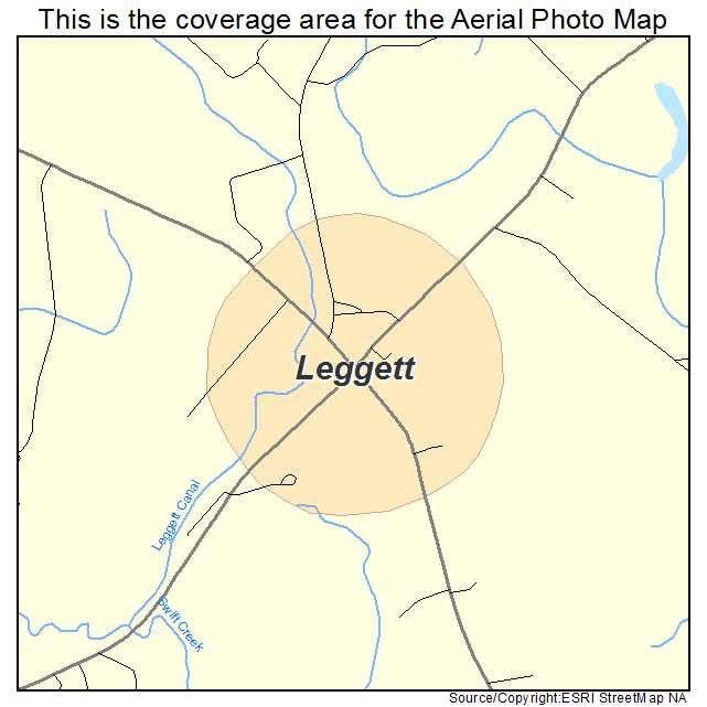 Leggett, NC location map