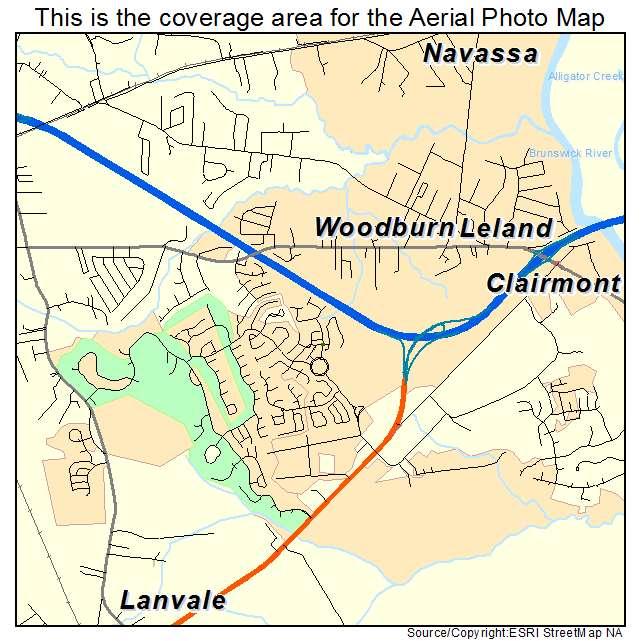 Leland, NC location map