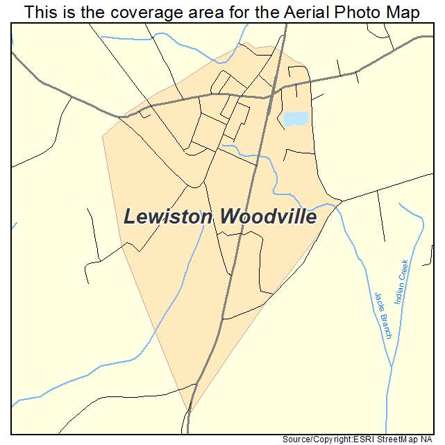 Lewiston Woodville, NC location map