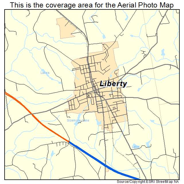 Liberty, NC location map