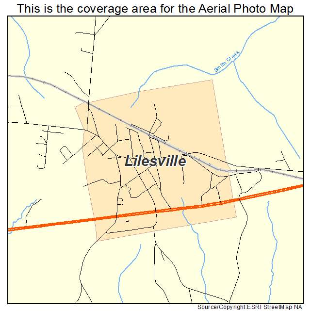 Lilesville, NC location map