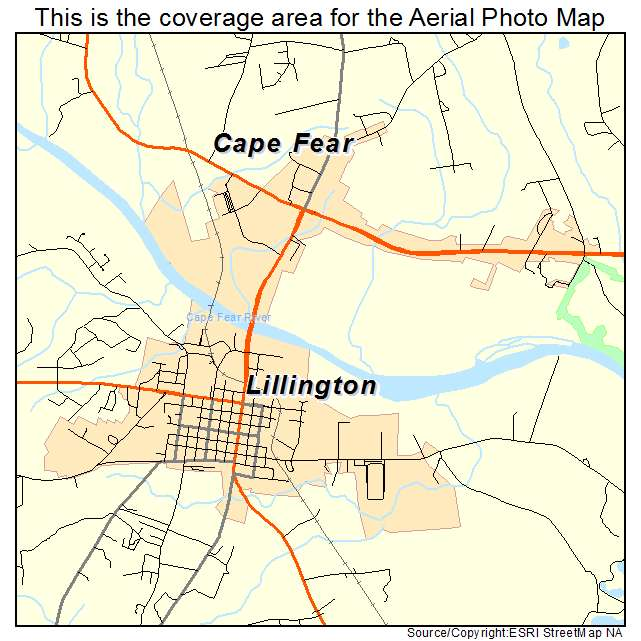 Lillington, NC location map