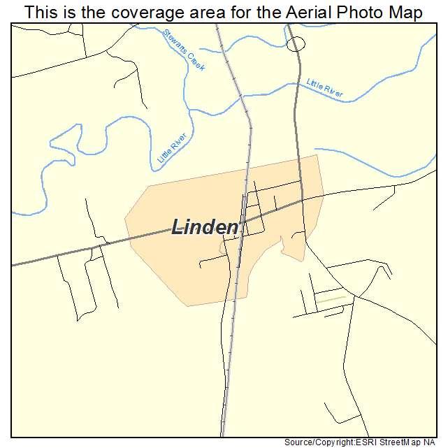 Linden, NC location map