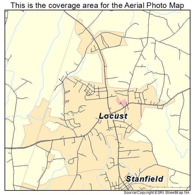 Locust, NC location map