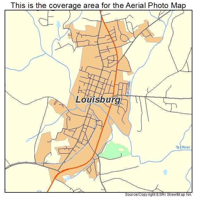 Louisburg, NC location map