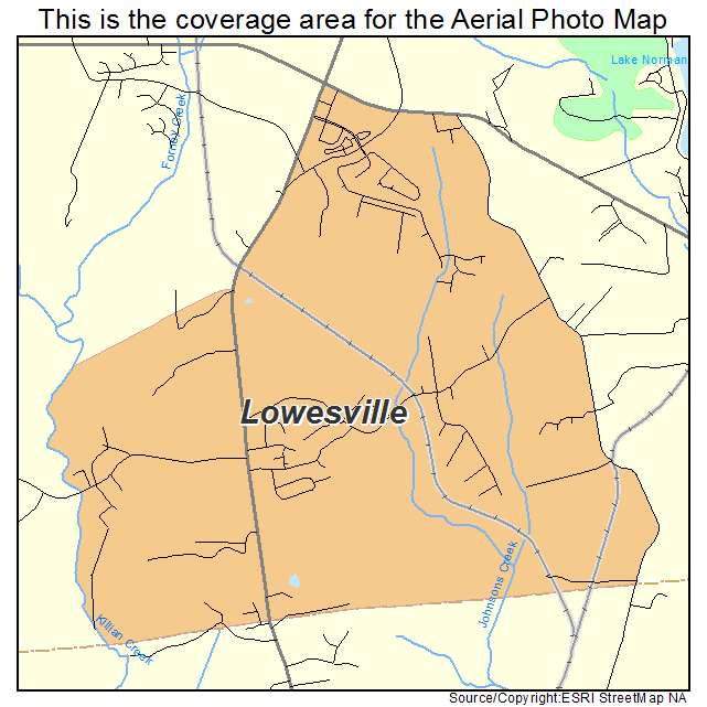 Lowesville, NC location map