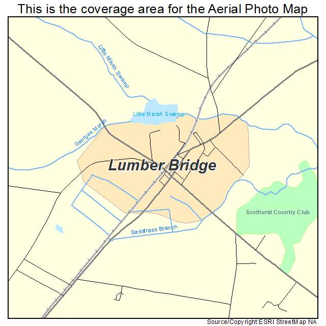 Lumber Bridge, NC location map