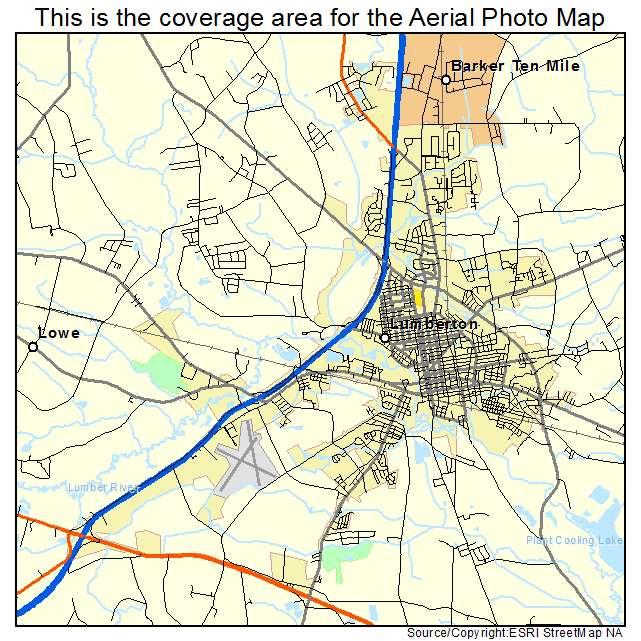 Lumberton, NC location map