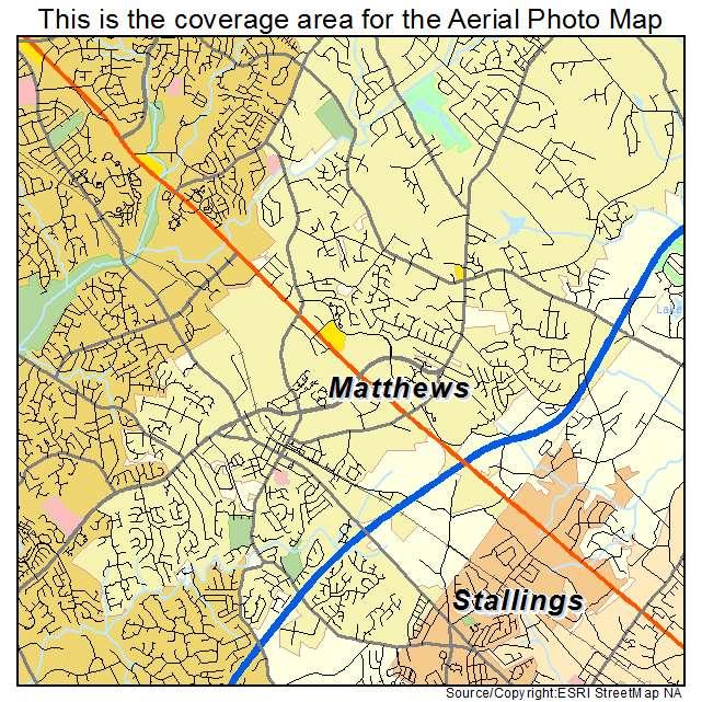Aerial Photography Map Of Matthews Nc North Carolina